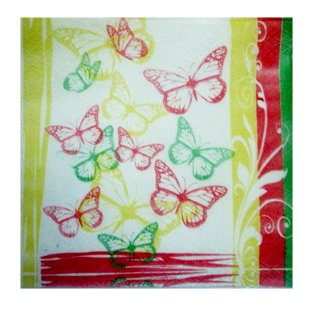 cellulose napkins with stamp 60pcs 33/33сm
