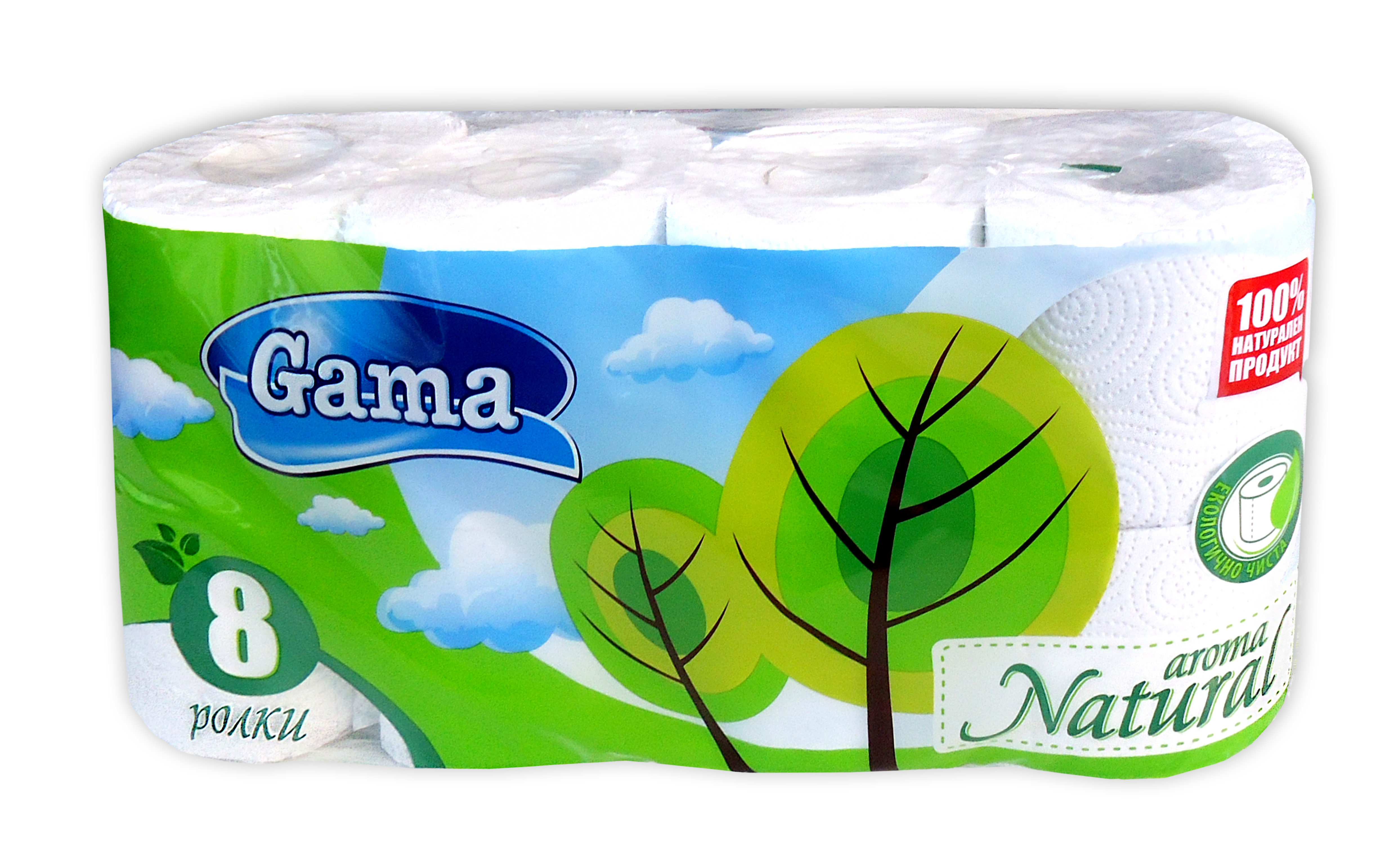 A picture of 3-ply toilet paper Natural - white