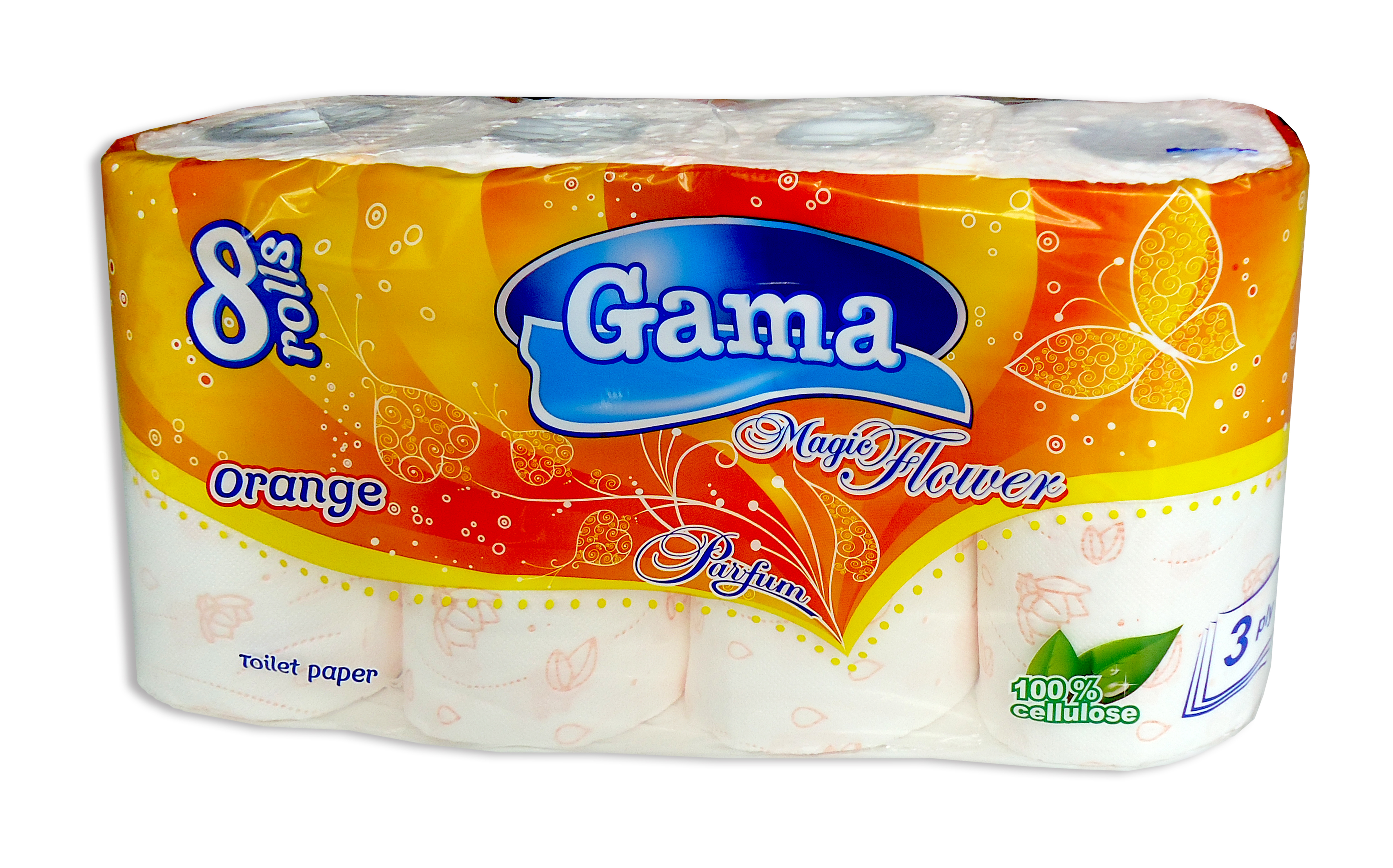 Picture of toilet paper - 100 % cellulose, 3 plies, with aroma, with stamp